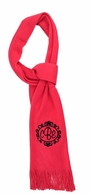 Bright Pink Soft As A Sweater Monogrammed Scarf