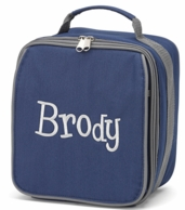 Brody Solid Navy Personalized Lunch Tote