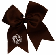 Brown Monogrammed Hair Bow