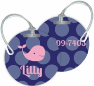 Bubble Dots Personalized Bag Tags - SET OF 2 - CHOOSE YOUR DESIGN!