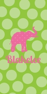 Bubbledots KIDS Personalized Beach Towel - CHOOSE YOUR COLORS!