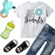 But First Donuts Personalized Kids Tee