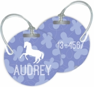 Butterflies Personalized Bag Tag - SET OF 2 - CHOOSE YOUR DESIGN!