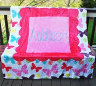 Butterflies Personalized Fleece Throw Blanket
