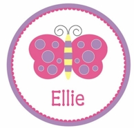 Butterfly Personalized Kids Plate