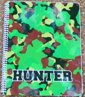 Camo Green Personalized Spiral Notebook