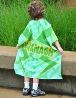 Camo Lightening Personalized Kids Super Hero Cape