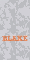 Camo Personalized KIDS Beach Towel - CHOOSE YOUR COLORS!