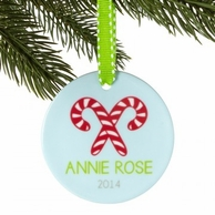 Candy Canes Personalized Christmas Ornament