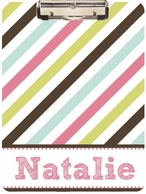 Candy Stripes Personalized Clipboard