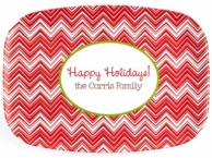 Candy Zig Zag Personalized Holiday Serving Platter