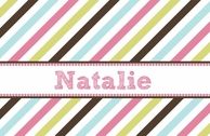 Candystripes Personlized Kids Placemat