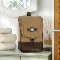 Canvas & Leather Personalized Travel Kit