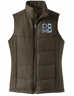 Cappucino Monogrammed Quilted Puffer Vest