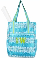 Capri Cove Monogrammed Tennis Shoulder Tote