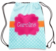 Caroline Personalized Drawstring Backpack