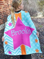 Caroline Personalized Kids Super Hero Cape