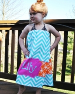 Caroline Print Personalized Girls Spa Wrap