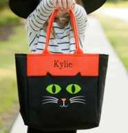 Cat Personalized Halloween Tote