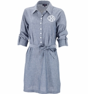 Chambray Monogrammed Dress