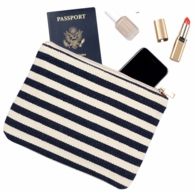 Chandler Stripe Monogrammed Cosmetic Pouch