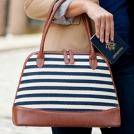 Chandler Stripe Monogrammed Purse