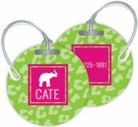 Cheetah Personalized Bag Tags - SET OF 2 - CHOOSE YOUR DESIGN!