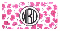 Cherry Blossoms Monogrammed Car Tag