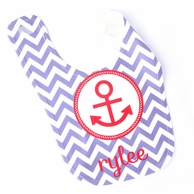 Chevron Anchor Personalized Bib