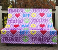 Chevron BFF Personalized Fleece Throw Blanket