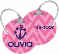 Chevron Personalized Bag Tags - SET OF 2 - CHOOSE YOUR DESIGN!