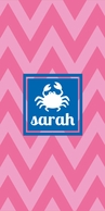 Chevron Personalized Beach Towel - CHOOSE YOUR DESIGN OPTIONS!