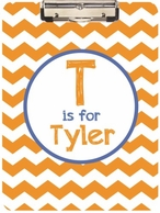 Chevron Personalized Clipboard