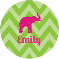 Chevron Personalized Kids Plate - CHOOSE YOUR DESIGN!