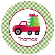 Christmas Delivery Personalized Kids Plate