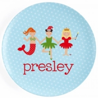 Christmas Line Up Personalized Kids Plate