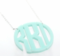 Circle Acrylic Large Monogram Necklace