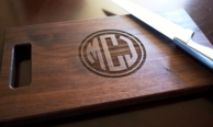 Circle Monogram Custom Wood Cutting Board