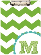 Classic Chevron Personalized Clipboard - CHOOSE YOUR COLORS