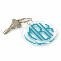 Clear Acrylic Color Monogram Key Chain