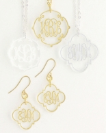 Clear Acrylic Gold Or Silver Monogram Necklace - CHOOSE YOUR STYLE!