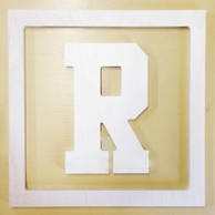 Collegiate Varsity Letter Wood Wall Monogram