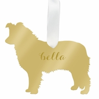 Collie or Australian Shephard Personalized Pet Ornament