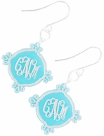 Compass Arabesque Monogram Acrylic Earrings