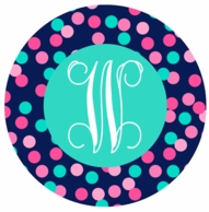 Confetti Dots Monogrammed Coasters - SET OF 4