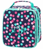 Confetti Dots Monogrammed Lunch Tote