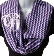 Cool Breeze Chevron Monogram Infinity Scarf
