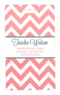 Pale Pink & Gray Chevron Personalized Luggage Tags - SET OF 2