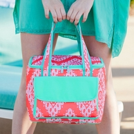 Coral Cove Monogrammed Cooler Tote