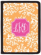 Coral Monogrammed iPad AIR Personalized Folio Cover - DESIGN YOUR OWN!